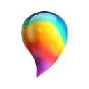 Paint 3D icon png 128px