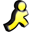 AOL Instant Messenger (AIM) icon png 128px