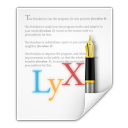LyX icon png 128px