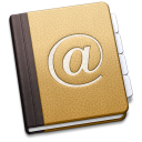 Mac OS X Address Book (Contacts) icon png 128px