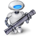 Mac OS X Automator icon png 128px