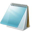 Microsoft Windows NotePad icon png 128px