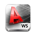 Autocad WS for iOS icon png 128px