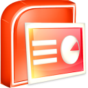 Microsoft PowerPoint Viewer icon png 128px