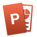 Microsoft PowerPoint for Mac icon png 128px