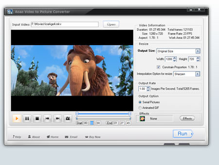Aoao Video to Picture Converter picture