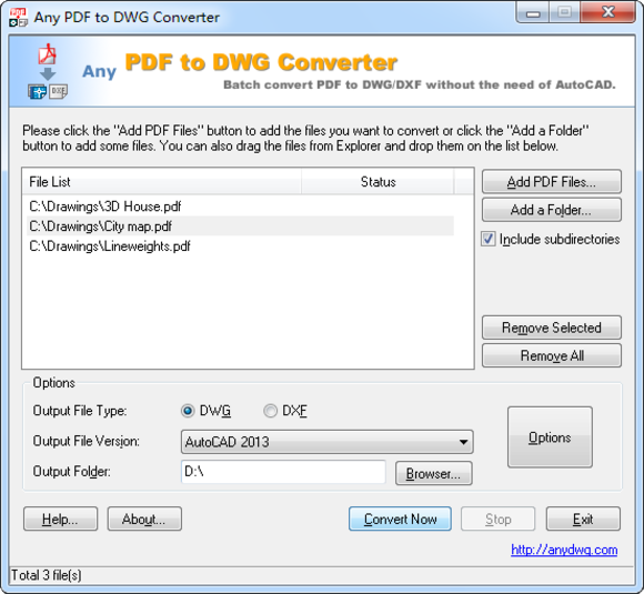 Any PDF to DWG Converter picture