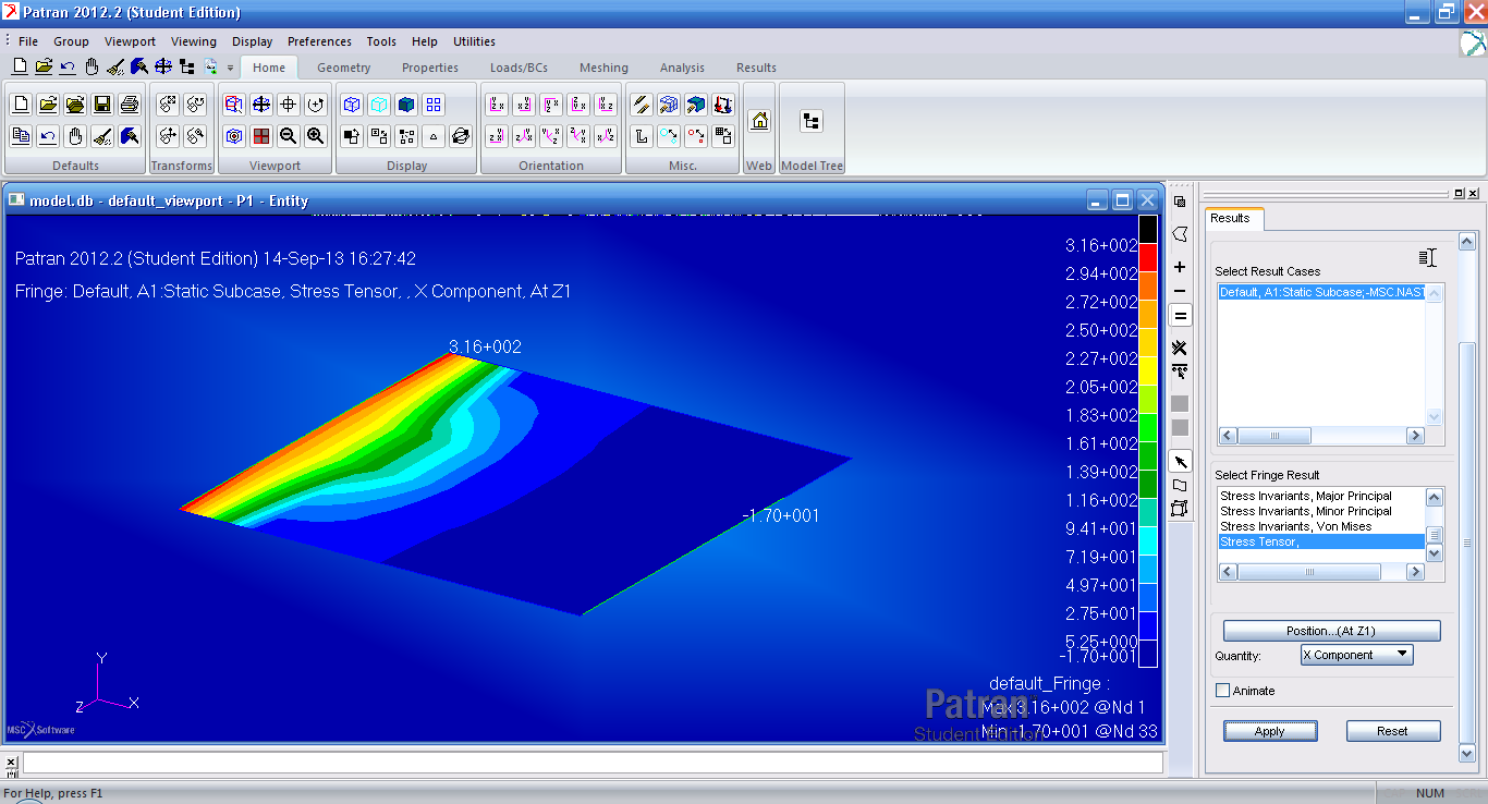 MSC Nastran picture or screenshot