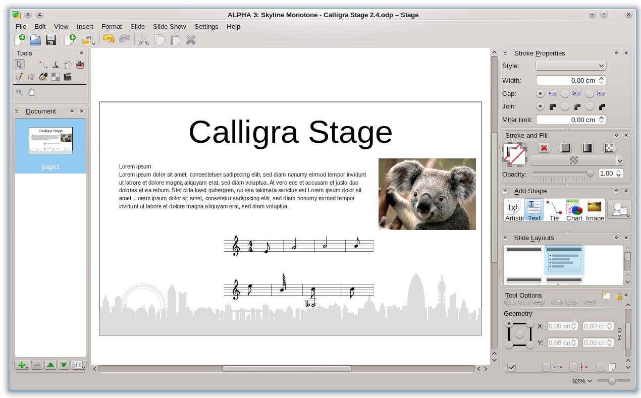 Calligra Suite picture or screenshot