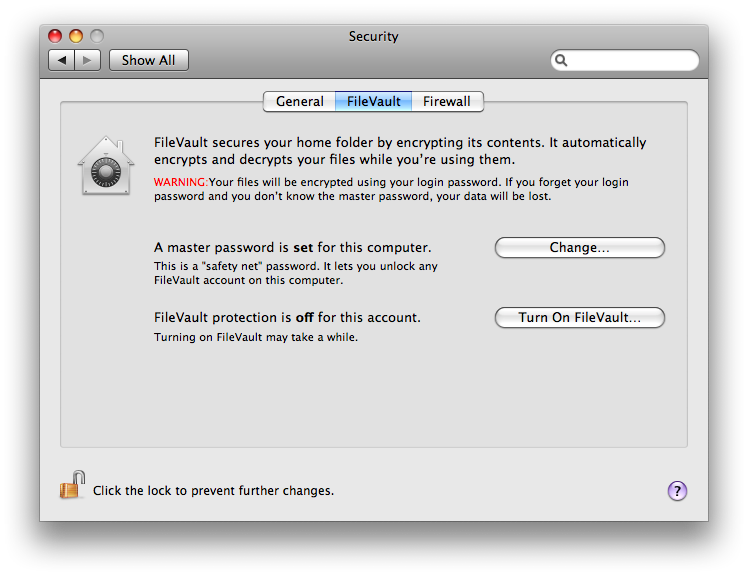 FileVault picture