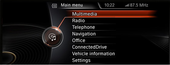 BMW iDrive picture or screenshot