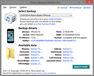 iPhone Backup Extractor picture