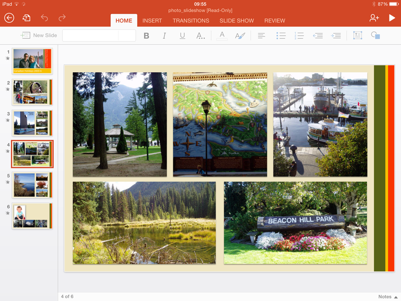 Microsoft Powerpoint for iOS picture