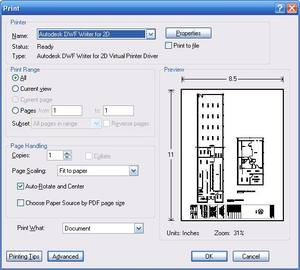 DRIVER UPDATE: AUTODESK DWF WRITER FOR 2D VIRTUAL PRINTER