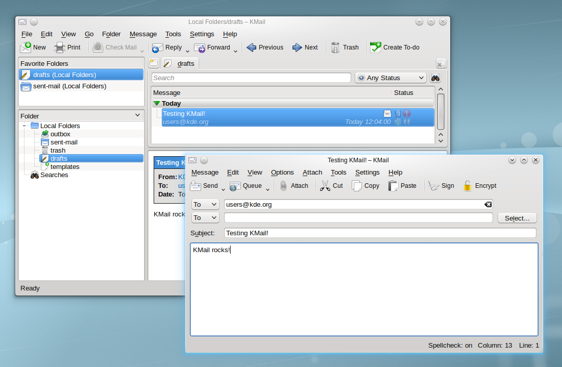 KMail - Mail Client picture or screenshot