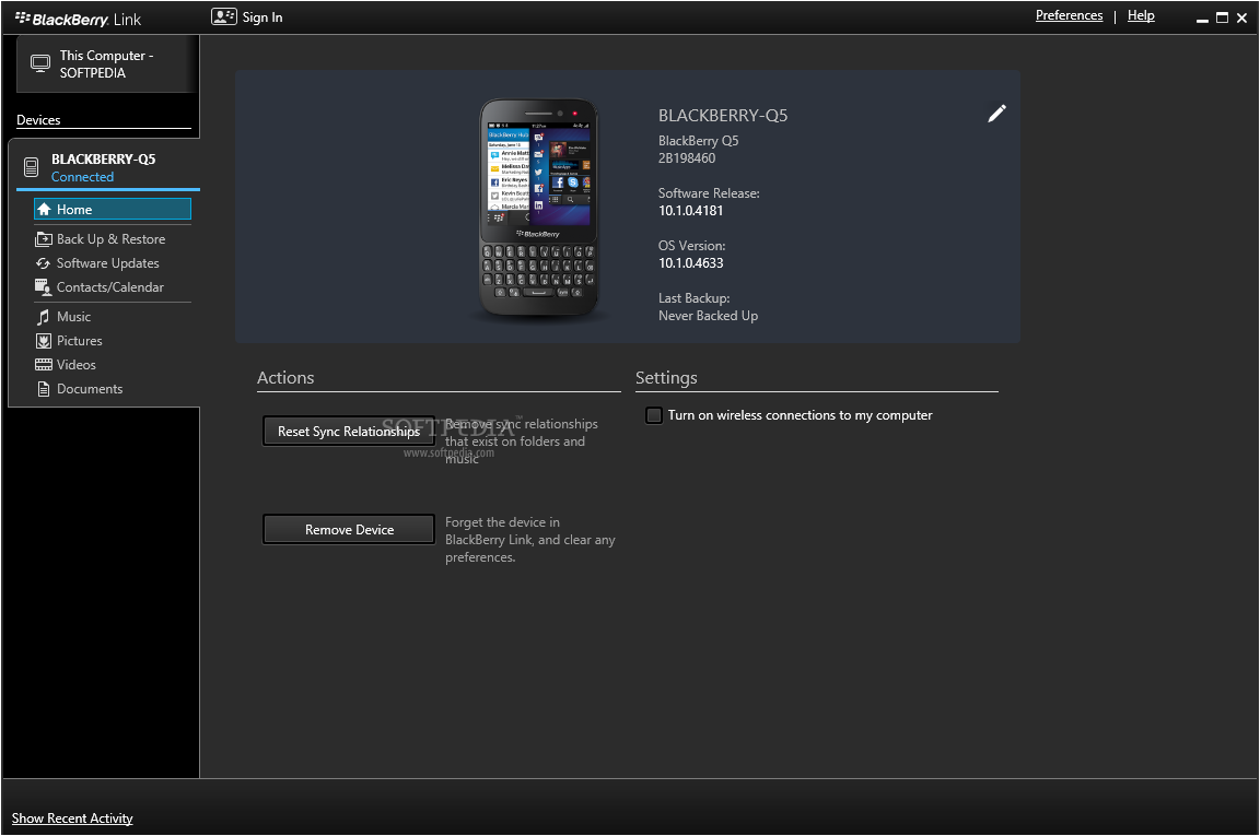 BlackBerry Link picture