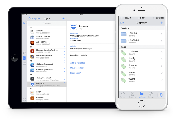 1Password for iPhone picture