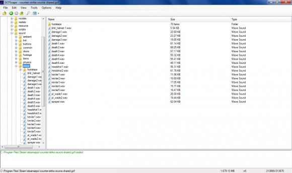 GCFScape picture or screenshot