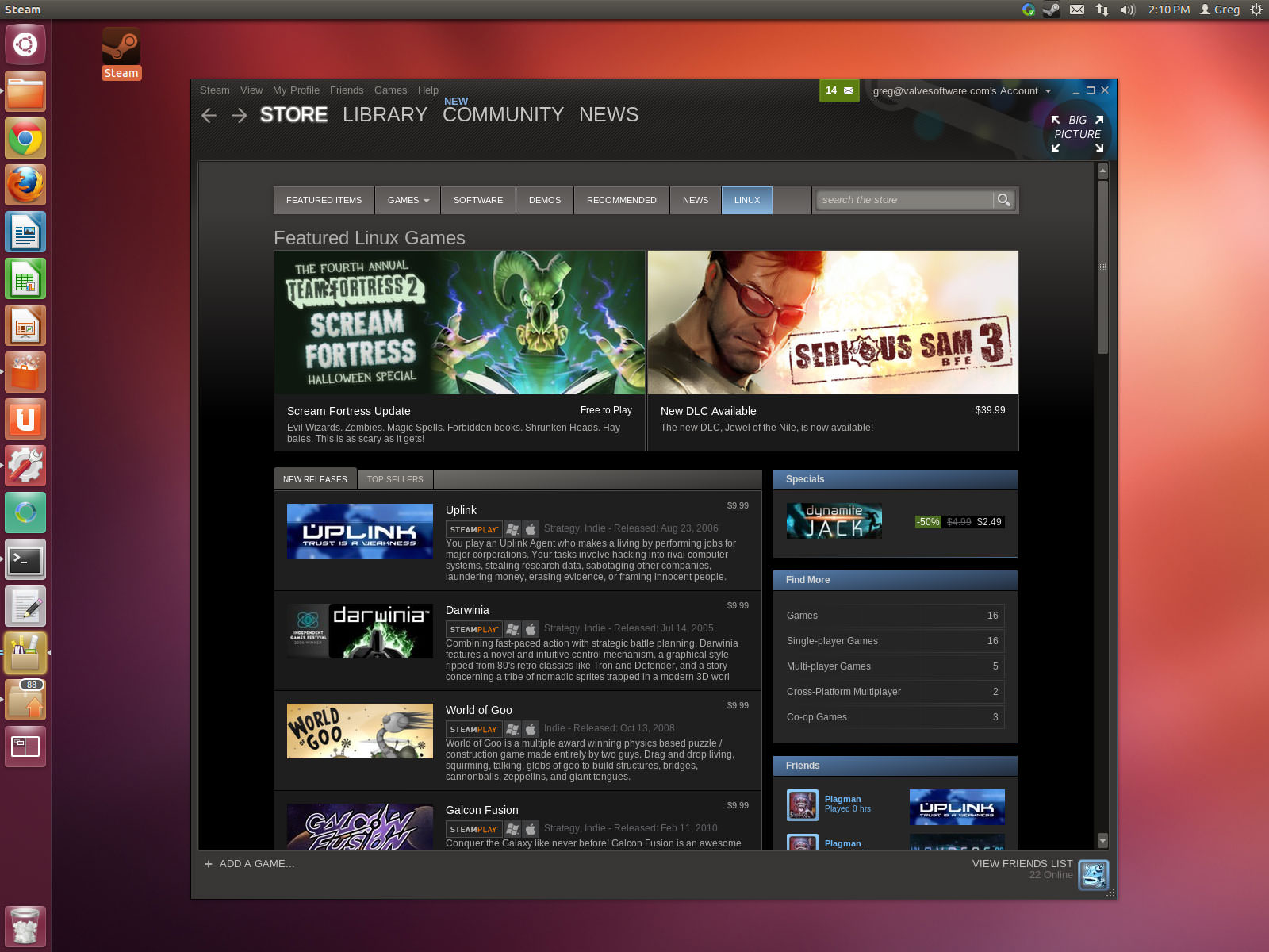Steam for Linux picture