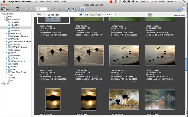 Image Data Converter picture or screenshot