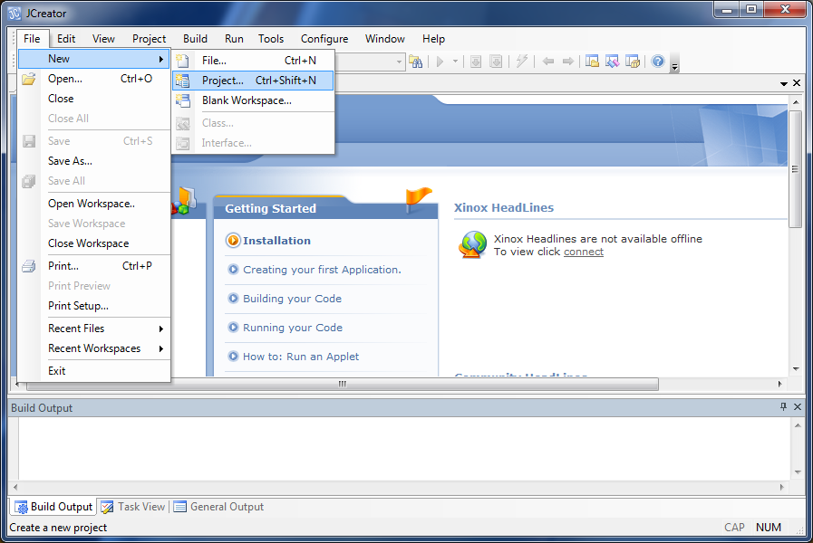 JCreator picture or screenshot