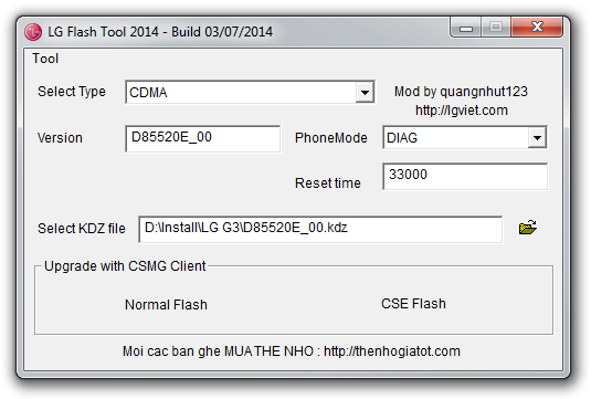 LG Flash Tool 2014 picture or screenshot