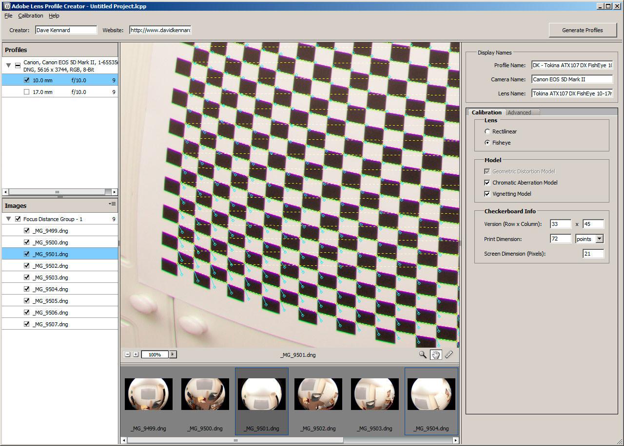 Adobe Lens Profile Creator picture or screenshot