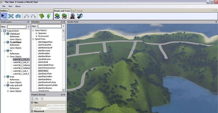 The Sims 3 Create a World Tool picture