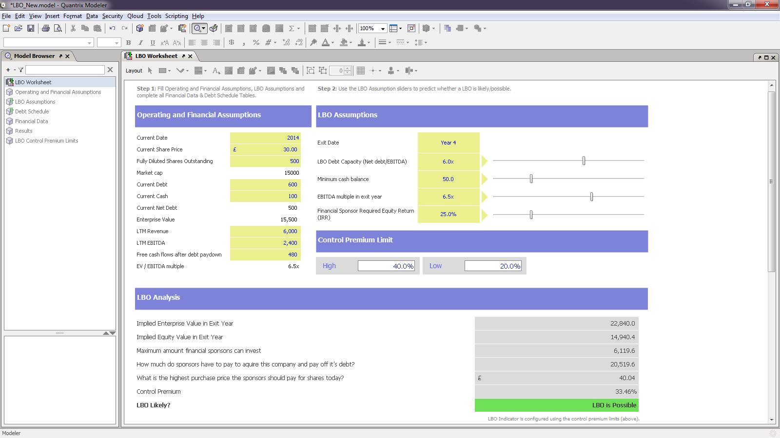 Quantrix Modeler picture or screenshot