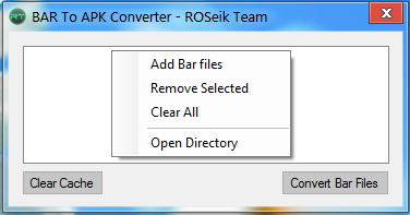 Bar To Apk Converter File Extensions