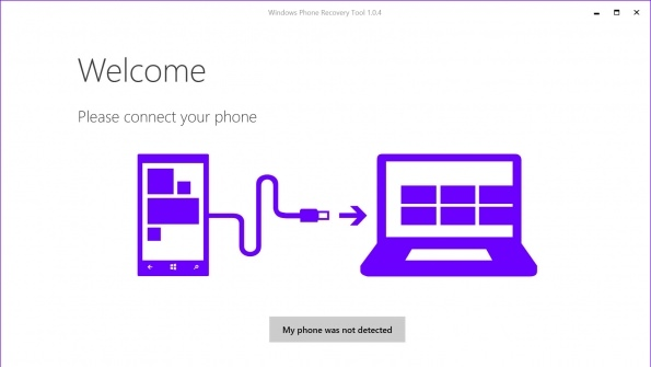 Windows Phone Recovery Tool picture or screenshot