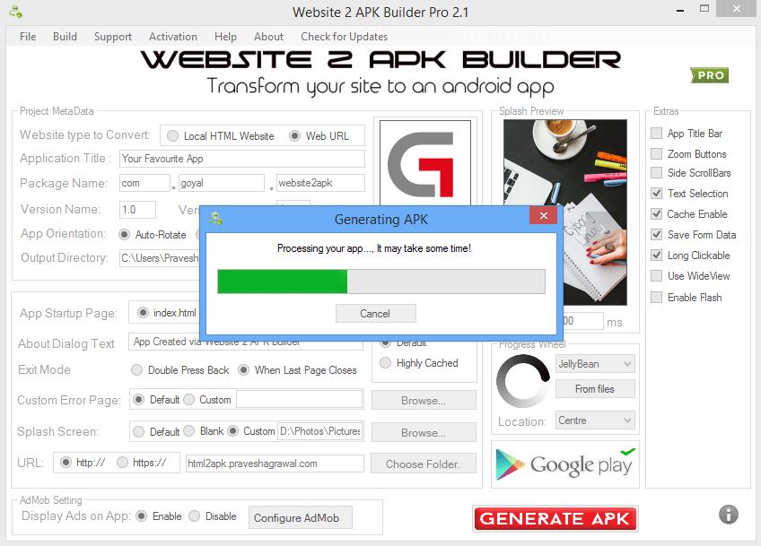 Website 2 APK Builder picture or screenshot