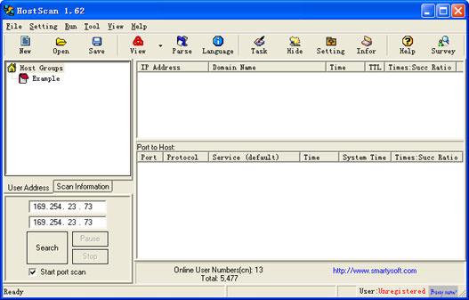 HostScan picture or screenshot
