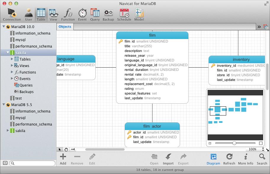 Navicat for MariaDB (Mac OS X) picture or screenshot
