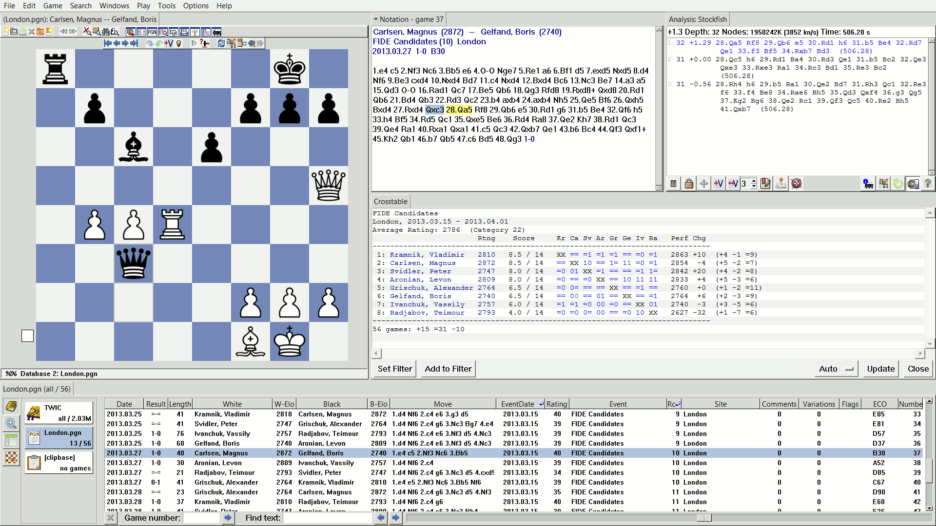 Shane's Chess Information Database picture or screenshot