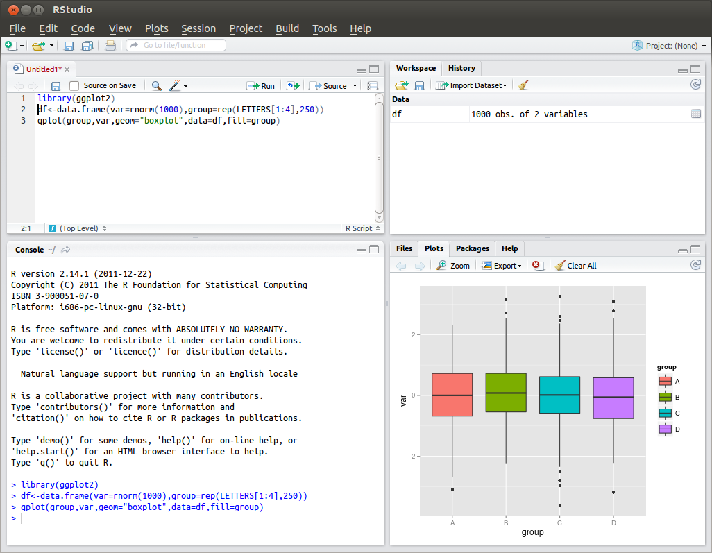 RStudio picture or screenshot