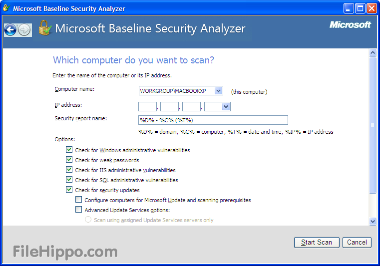 Microsoft Baseline Security Analyzer picture or screenshot