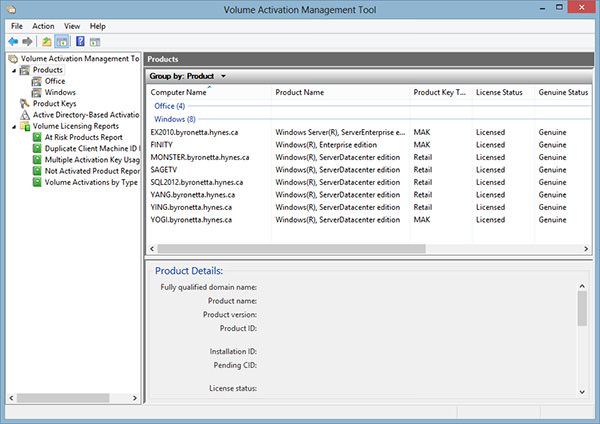 Volume Activation Management Tool picture or screenshot