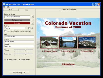 VCD Menu Lite picture or screenshot