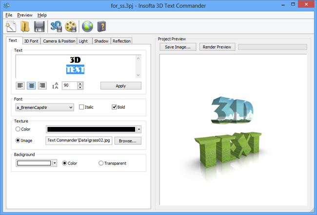 3D Text Commander picture or screenshot