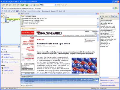 WebZIP picture or screenshot