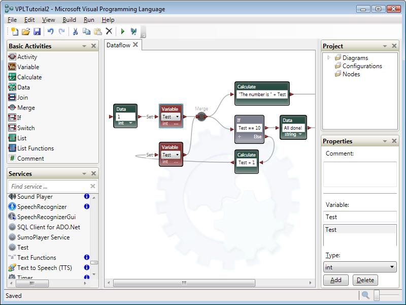 Microsoft Visual Programming Language picture or screenshot