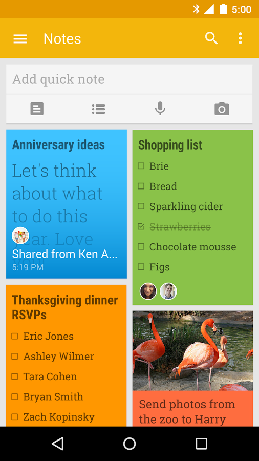 Google Keep picture or screenshot