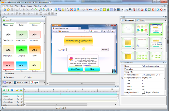 ActivePresenter picture or screenshot