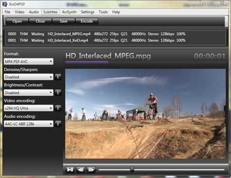 Xvid4PSP picture or screenshot