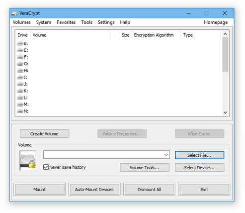 VeraCrypt picture or screenshot