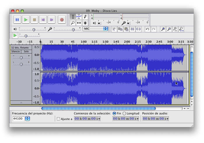 Audacity for Mac picture