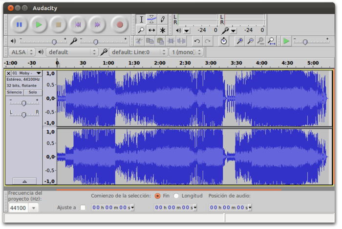 Audacity for Linux picture