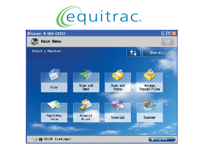 Equitrac picture or screenshot