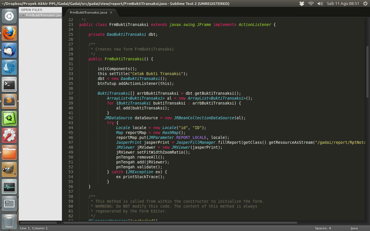 Sublime Text for Linux picture